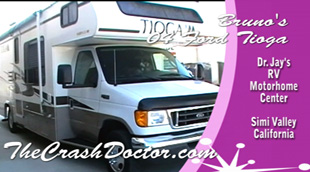ford tioga motorhome repair and paint video from www.thecrashdoctor.com