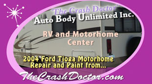 ford tioga motorhome painting by www.thecrashdoctor.com