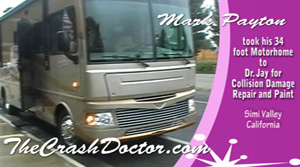fleetwood bounder 34 foot motorhome collision repair video photo from www.thecrashdoctor.com