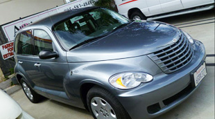 pt cruiser after extensive collision repair and paint from www.thecrashdoctor.com