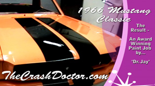 classic mustang restoration body work and complete paint work from www.thecrashdoctor.com