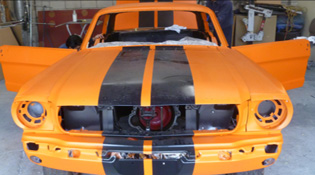 classic ford mustang custom paint job by www.thecrashdoctor.com
