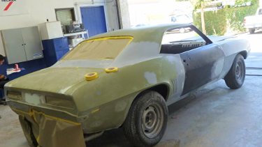 69 camaro rust repair paint job