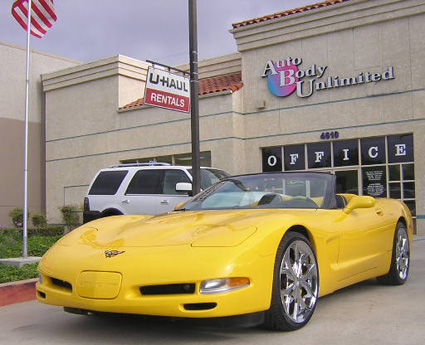 2000 Corvette paint and body work www.thecrashdoctor.com
