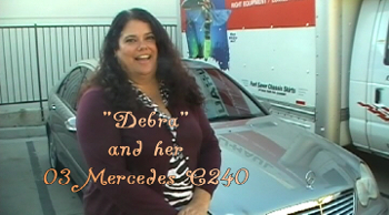 consumer auto body review testimonial from mercedes benz ower debra from simi valley for www.thecrashdoctor.com photo