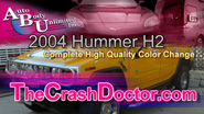 2004 Hummer H2 color change paint job video from www.thecrashdoctor.com