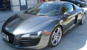 Audi R8 sports car paint and body repair from auto body unlimited the crash doctor specialty car body and paint repair center of california www.thecrashdoctor.com photo