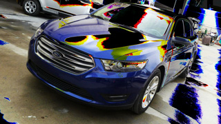 2013 Ford Taurus commercial fleet collision repair and paint video from www.thecrashdoctor.com