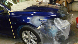 2013 Ford Taurus commercial fleet job repair and paint job from www.thecrashdoctor.com