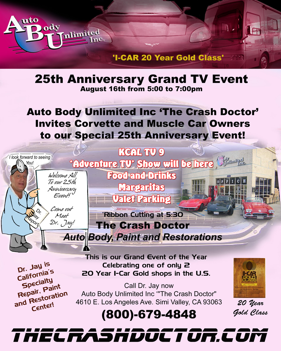 25th Anniversary Event flyer from www.thecrashdoctor.com photo