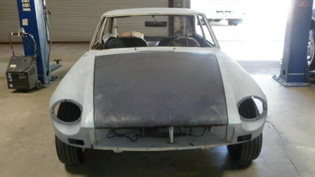 mgb gt european restoration paint job by www.thecrashdoctor.com photo before