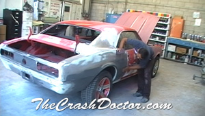 chevy camaro damage to panels and frame photo
