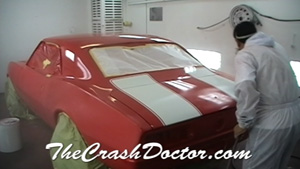 painting stripes on ss camaro photo www.thecrashdoctor.com