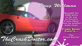 2006 Corvette frame repair and corrections by Dr. Jay www.thecrashdoctor.com