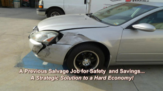 salvage repair collision safety job from http://www.thecrashdoctor.com