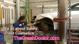 Salvage safety collision repair unibody frame straightening from www.thecrashdoctor.com
