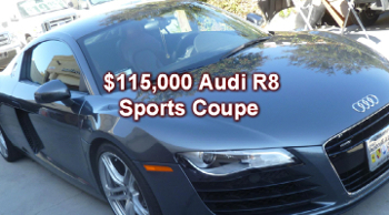 2011 audi r8 $115000 sports coupe brought to The Crash Doctor for precision damage repair and paint work at www.thecrashdoctor.com photo