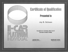 Auto Body Unlimited Inc, The Crash Doctor Dr. Jay I-Car Platinum Award from www.thecrashdoctor.com