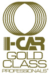 i-car gold class body shop simi valley logo