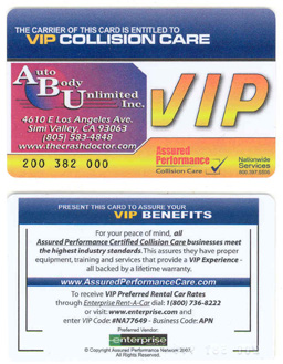 vip discount auto repair and paint card from www.thecrashdoctor.com