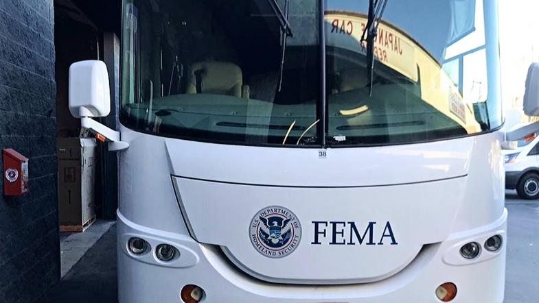 FEMA Coachman Motorhome Emergency Windshield Replacement